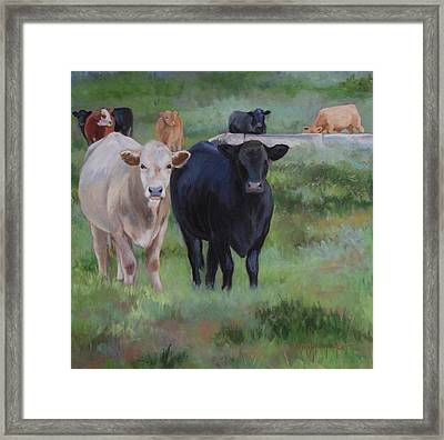 Framed Print featuring the painting Country Tapestry by Cheri Wollenberg