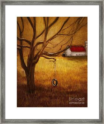 Country Tire Swing Framed Print