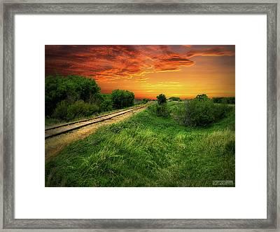 Country Tracks 2 Framed Print