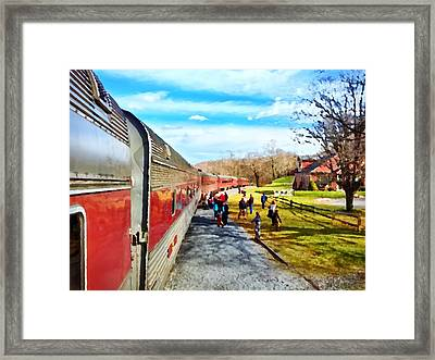 Country Train Depot Framed Print