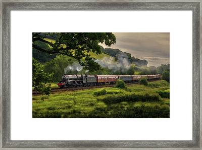Country Train Ride Framed Print