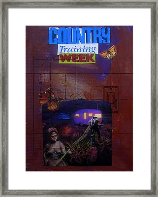 Country Training Week Framed Print by Adam Kissel