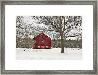 Framed Print featuring the digital art Country Vermont by Sharon Batdorf