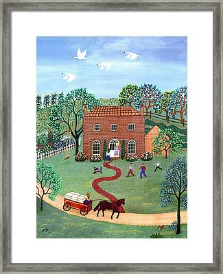 Country Visit Framed Print by Linda Mears