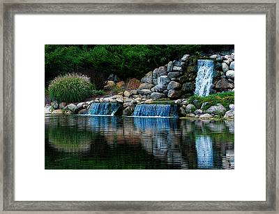 Country Waterfall Framed Print by S Michael Basly - PhotoGraphics By S Michael