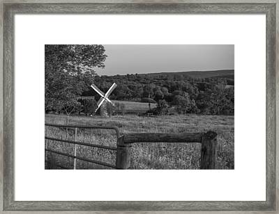 Country Windmill Framed Print by Karol Livote