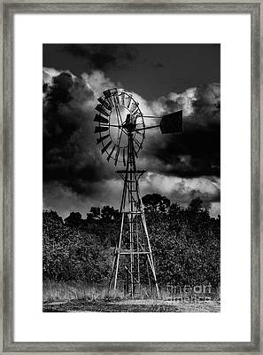 Country Windmill Framed Print by Naomi Burgess