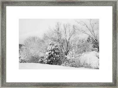 Country Winter Framed Print by Kathy Jennings