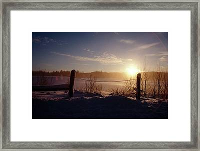 Country Winter Sunset Framed Print