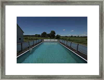 Countrypool Framed Print by Taylor Maher