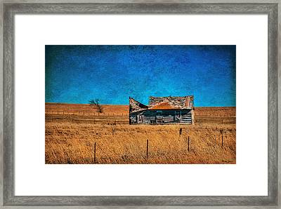 Countryside Abandoned House Framed Print