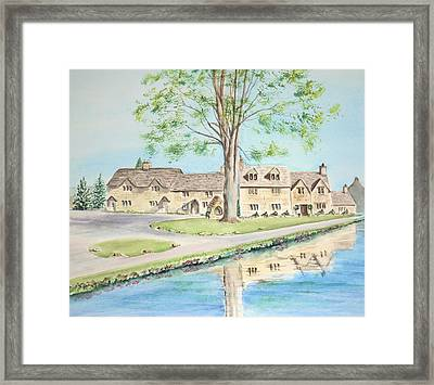 Countryside Cottages Framed Print