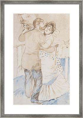 Countryside Dance Framed Print by Pierre Auguste Renoir