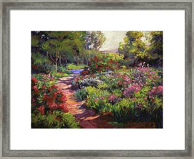 Countryside Gardens Framed Print by David Lloyd Glover