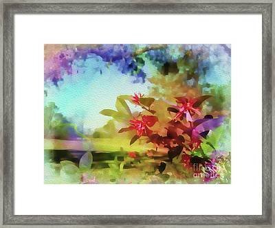 Countryside In Springtime Framed Print by Judi Bagwell
