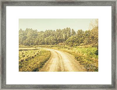 Countryside Road In Outback Australia Framed Print by Jorgo Photography - Wall Art Gallery