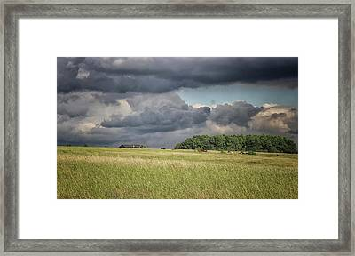 Countryside Storms Framed Print by Martin Newman