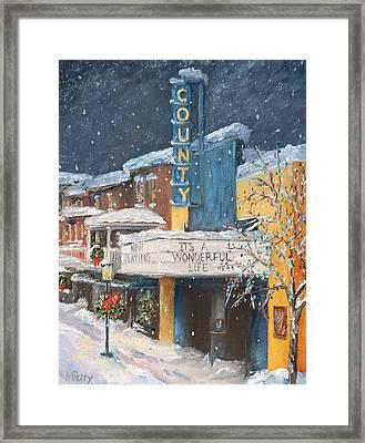 County Christmas Framed Print
