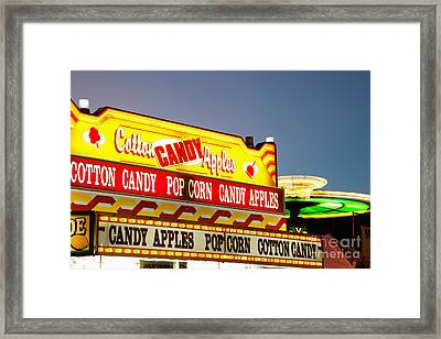 County Fair Concession Stand Food Sign Framed Print by Paul Velgos