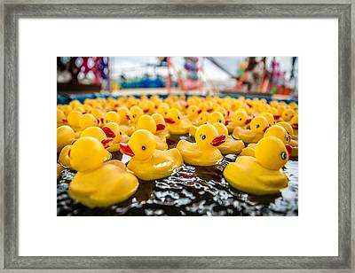 County Fair Rubber Duckies Framed Print