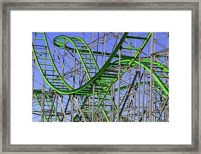 County Fair Thrill Ride Framed Print by Joe Kozlowski