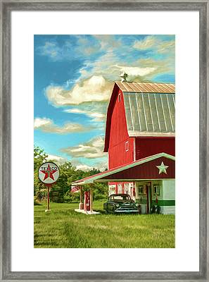 County G Classic Station Framed Print by Trey Foerster