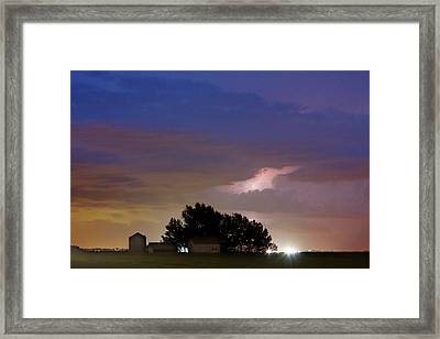 County Line 1 Northern Colorado Lightning Storm Framed Print by James BO  Insogna