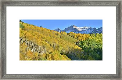 Framed Print featuring the photograph County Road 7 Fall Colors by Ray Mathis