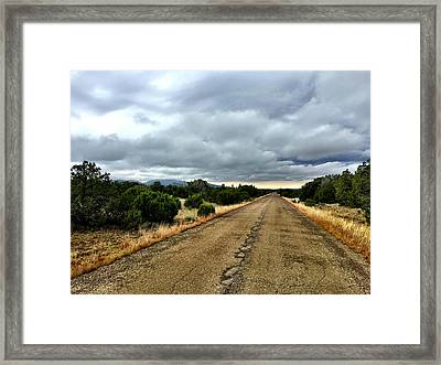 County Road Framed Print