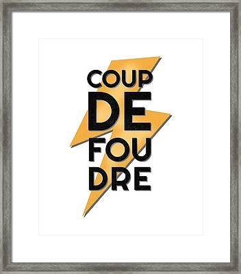 Coup De Foudre - Love At First Sight Framed Print by Antique Images