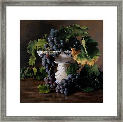Coupe De Raisin Framed Print by Kira Weber