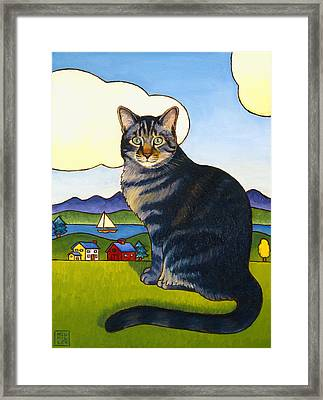 Coupeville Cat Framed Print