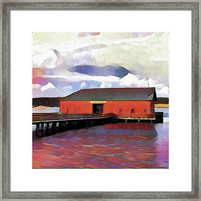Coupeville Wharf Painterly Effect Framed Print