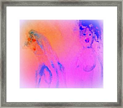 Can You See Fragments Of A Couple In Love  Framed Print by Hilde Widerberg