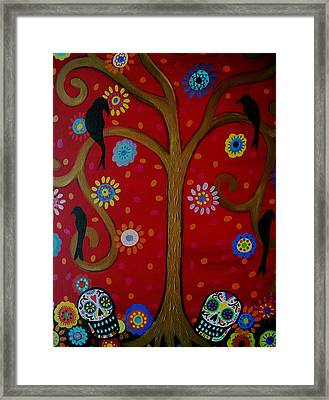 Couple Day Of The Dead Framed Print by Pristine Cartera Turkus