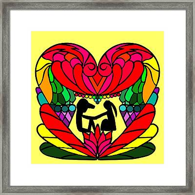 Couple In A Heart Framed Print by Pratyasha Nithin