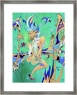 Couple In Love Dancing - Erotic Tango Music Framed Print