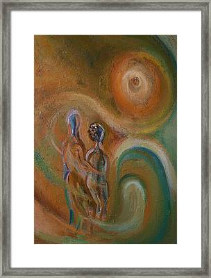 Couple In Whirlwind Framed Print