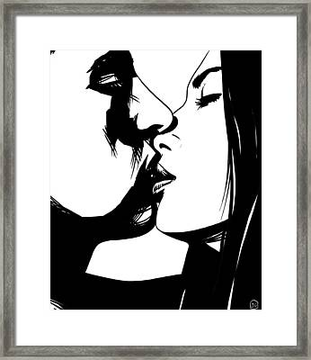 Couple Kissing Framed Print by Giuseppe Cristiano