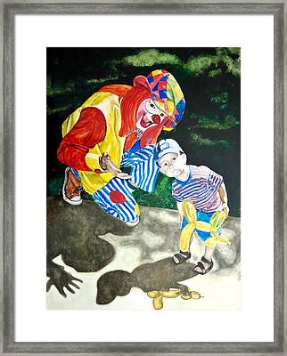 Couple Of Clowns Framed Print