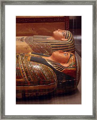 Couple Of Sarcophagi Framed Print