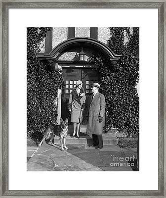 Couple On Steps, C.1920s Framed Print by H. Armstrong Roberts/ClassicStock