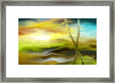 Framed Print featuring the painting Couple by Rushan Ruzaick