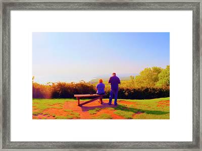 Couple Views Framed Print