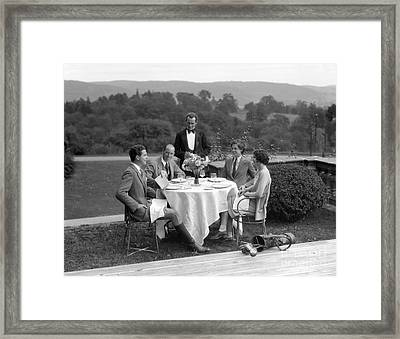 Couples At The Country Club, C.1920-30s Framed Print