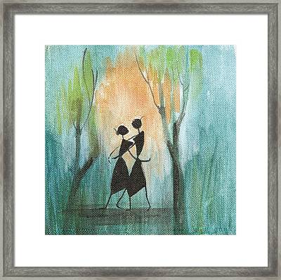 Couples Delight Framed Print by Chintaman Rudra