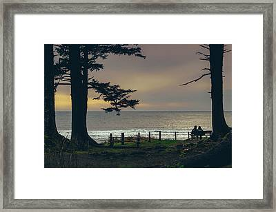 Couples Overlook Framed Print