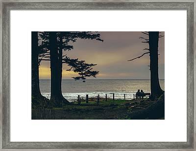 Couples Overlook Framed Print