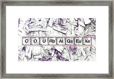 Courage And The Cross N Framed Print