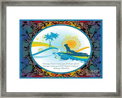 Courage In Action Abstract Surf Art By Omashte Framed Print